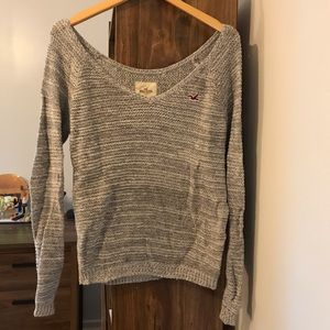 Hollister Grey Knit Sweater